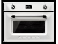 Компактный духовой шкаф, комбинированный с микроволновой печью 59,7 см, Белый Smeg SF4920MCB1
