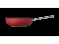 Сковорода Wok 30 см, Красная Smeg CKFW3001RDM