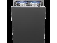 Полностью встраиваемая посудомоечная машина, 60 см, Серебристый Smeg STL62339LDE