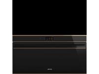 Многофункциональный духовой шкаф с пиролизом, 90 см, Чёрный Smeg SFPR9604TNR
