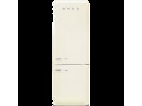 Отдельностоящий двухдверный холодильник, стиль 50-х годов, 70 см, Кремовый Smeg FAB38RCR5