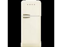 Отдельностоящий двухдверный холодильник, стиль 50-х годов, 80 см, Кремовый Smeg FAB50RCRB5