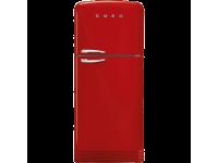 Отдельностоящий двухдверный холодильник, стиль 50-х годов, 80 см, Красный Smeg FAB50RRD5