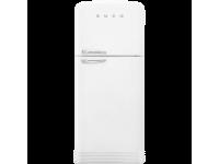Отдельностоящий двухдверный холодильник, стиль 50-х годов, 80 см, Белый Smeg FAB50RWH5