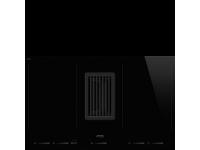 Индукционная варочная панель со встроенной вытяжкой, 83 см, Чёрный Smeg HOBD682D1