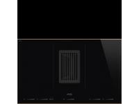 Индукционная варочная панель со встроенной вытяжкой, 83 см, Чёрный Smeg HOBD682R1