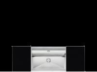 Мойка, Нержавеющая сталь матовая + разделочные доски Smeg VQMX79N2