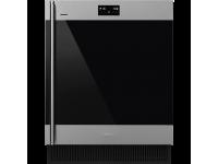 Холодильный шкаф для вина встраиваемый, 82 см, Нержавеющая сталь Smeg CVI338RWX2