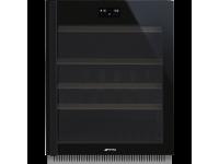 Холодильный шкаф для вина встраиваемый, 82 см, Чёрный Smeg CVI638RWN2