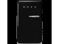 Отдельностоящий однодверный холодильник, стиль 50-х годов, 54,3 см, Чёрный Smeg FAB10LBL2