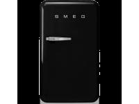 Отдельностоящий однодверный холодильник, стиль 50-х годов, 54,3 см, Чёрный Smeg FAB10RBL2