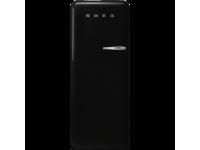 Отдельностоящий однодверный холодильник, стиль 50-х годов, 60 см, Чёрный Smeg FAB28LBL5