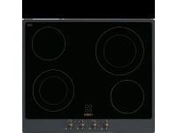 Стеклокерамическая варочная панель, 60 см, Антрацит Smeg P864AO