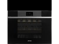 Холодильный шкаф для вина встраиваемый, 45 см, Чёрный Smeg CVI118LWN2