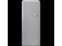Отдельностоящий однодверный холодильник, стиль 50-х годов, 60 см, Серебристый Smeg FAB28LSV5