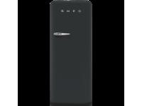 Отдельностоящий однодверный холодильник, стиль 50-х годов, 60 см, Черный вельвет Smeg FAB28RDBLV3