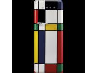 Отдельностоящий однодверный холодильник, стиль 50-х годов, 60 см, Разноцветные полоски Smeg FAB28RDMC5