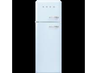 Отдельностоящий двухдверный холодильник, стиль 50-х годов, 60 см, Голубой Smeg FAB30LPB3