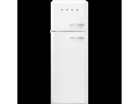 Отдельностоящий двухдверный холодильник, стиль 50-х годов, 60 см, Белый Smeg FAB30LWH3