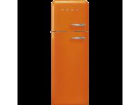 Отдельностоящий двухдверный холодильник, стиль 50-х годов, 60 см, Оранжевый Smeg FAB30LOR3