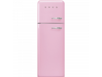Отдельностоящий двухдверный холодильник, стиль 50-х годов, 60 см, Розовый Smeg FAB30LPK3