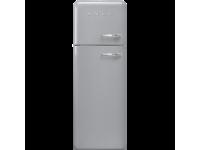 Отдельностоящий двухдверный холодильник, стиль 50-х годов, 60 см, Серебристый Smeg FAB30LSV5