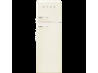 Отдельностоящий двухдверный холодильник, стиль 50-х годов, 60 см, Кремовый Smeg FAB30RCR3