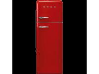 Отдельностоящий двухдверный холодильник, стиль 50-х годов, 60 см, Красный Smeg FAB30RRD3