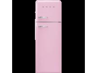 Отдельностоящий двухдверный холодильник, стиль 50-х годов, 60 см, Розовый Smeg FAB30RPK3