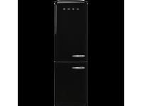Отдельностоящий двухдверный холодильник, стиль 50-х годов, 60 см, Чёрный Smeg FAB32LBL3