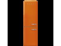 Отдельностоящий двухдверный холодильник, стиль 50-х годов, 60 см, Оранжевый Smeg FAB32LOR3