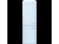 Отдельностоящий двухдверный холодильник, стиль 50-х годов, 60 см, Голубой Smeg FAB32LPB3