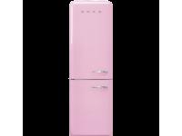 Отдельностоящий двухдверный холодильник, стиль 50-х годов, 60 см, Розовый Smeg FAB32LPK3