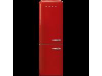 Отдельностоящий двухдверный холодильник, стиль 50-х годов, 60 см, Красный Smeg FAB32LRD3