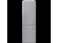 Отдельностоящий двухдверный холодильник, стиль 50-х годов, 60 см, Серебристый Smeg FAB32LSV5