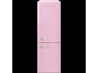 Отдельностоящий двухдверный холодильник, стиль 50-х годов, 60 см, Розовый Smeg FAB32RPK5