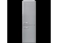 Отдельностоящий двухдверный холодильник, стиль 50-х годов, 60 см, Серебристый Smeg FAB32RSV3
