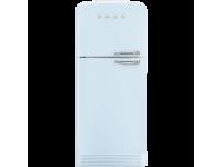 Отдельностоящий двухдверный холодильник, стиль 50-х годов, 80 см, Голубой Smeg FAB50LPB