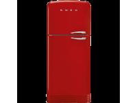 Отдельностоящий двухдверный холодильник, стиль 50-х годов, 80 см, Красный Smeg FAB50LRD