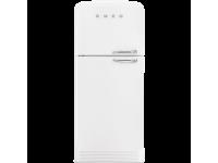 Отдельностоящий двухдверный холодильник, стиль 50-х годов, 80 см, Белый Smeg FAB50LWH