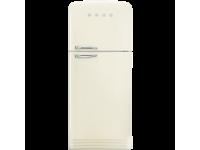 Отдельностоящий двухдверный холодильник, стиль 50-х годов, 80 см, Кремовый Smeg FAB50RCR
