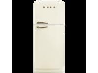 Отдельностоящий двухдверный холодильник, стиль 50-х годов, 80 см, Кремовый Smeg FAB50RCRB