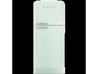 Отдельностоящий двухдверный холодильник, стиль 50-х годов, 80 см, Светло-зеленый Smeg FAB50RPG