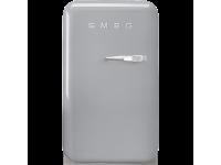 Отдельностоящий минибар, Серебристый Smeg FAB5LSV3, стиль 50-х гг.