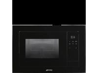 Встраиваемая микроволновая печь с грилем, 60 см, Чёрный Smeg FMI120N1