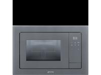 Встраиваемая микроволновая печь, 60 см, Серебристый Smeg FMI120S1