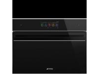 Компактный духовой шкаф, комбинированный с микроволновой печью, 60 см, Чёрный Smeg SF4606WMCNX