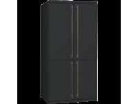 Отдельностоящий 4-х дверный холодильник Side-by-Side, 92 см, Антрацит Smeg FQ60CAO5