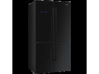 Отдельностоящий 4-х дверный холодильник Side-by-Side, Чёрный Smeg FQ60N2PE1