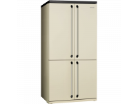 Отдельностоящий 4-х дверный холодильник Side-by-Side, 92 см, Кремовый Smeg FQ960P